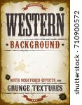 vintage western background ... | Shutterstock .eps vector #710900572