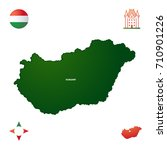 simple outline map of hungary | Shutterstock .eps vector #710901226