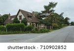 country houses with green... | Shutterstock . vector #710902852