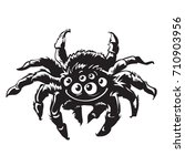 cartoon gigantic spider....   Shutterstock .eps vector #710903956