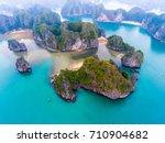 cat ba island from above. lan... | Shutterstock . vector #710904682