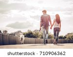 Romantic Couple Is On A Walk I...