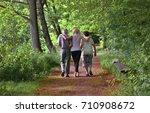 elderly grandparents with... | Shutterstock . vector #710908672