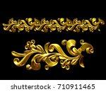 golden  ornamental segment  ... | Shutterstock . vector #710911465
