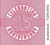 35 years anniversary logo.... | Shutterstock .eps vector #710914552
