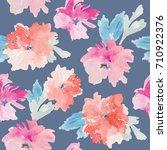 abstract watercolor flower... | Shutterstock . vector #710922376