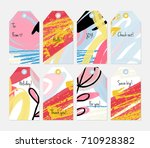 hand drawn creative tags.... | Shutterstock .eps vector #710928382