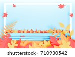 the forest with beautiful...   Shutterstock .eps vector #710930542