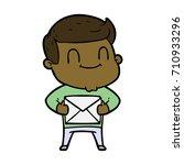 cartoon friendly man | Shutterstock .eps vector #710933296