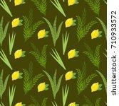 happy sukkot seamless pattern.... | Shutterstock .eps vector #710933572