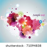spring floral background. | Shutterstock .eps vector #71094838