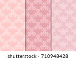 pale pink floral vintage... | Shutterstock .eps vector #710948428