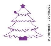 silhouette natural pine tree... | Shutterstock .eps vector #710956012