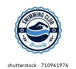 modern sports club badge logo   ... | Shutterstock .eps vector #710961976