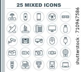hardware icons set. collection... | Shutterstock .eps vector #710967586