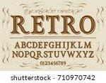script handcrafted vector... | Shutterstock .eps vector #710970742