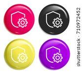 shield multi color glossy badge ...