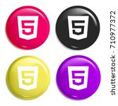 html5 multi color glossy badge...