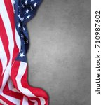closeup of american flag on... | Shutterstock . vector #710987602