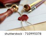 last will and testament... | Shutterstock . vector #710995378