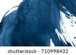 blue abstract watercolor stroke ... | Shutterstock . vector #710998432