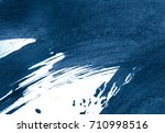blue abstract watercolor stroke ... | Shutterstock . vector #710998516