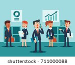young businessmen and business...   Shutterstock .eps vector #711000088