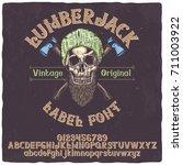 vintage label typeface named ... | Shutterstock .eps vector #711003922