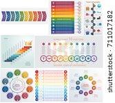 set 8 universal templates... | Shutterstock .eps vector #711017182