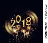 2018 new year background... | Shutterstock . vector #711020962