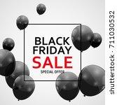 black friday sale banner... | Shutterstock .eps vector #711030532