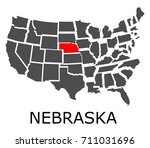 bordering map of usa with state ...