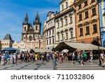 prague   czech republic   june... | Shutterstock . vector #711032806