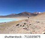 blue lagoon in atacama desert | Shutterstock . vector #711035875