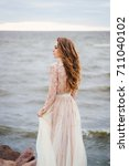 young beautiful caucasian woman ... | Shutterstock . vector #711040102