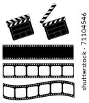 movie clapper with 3 film... | Shutterstock .eps vector #71104546