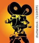 figure antique cameras on an... | Shutterstock .eps vector #71104591