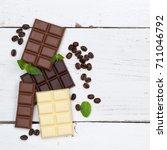 chocolate chocolates bar food... | Shutterstock . vector #711046792