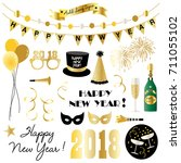 new years eve clipart | Shutterstock .eps vector #711055102