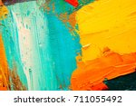 hand drawn oil painting.... | Shutterstock . vector #711055492