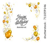 color holiday white  gold and... | Shutterstock .eps vector #711059146