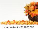 Candy Corn Pumpkins Fall Color...