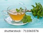 mint tea. mint | Shutterstock . vector #711063376