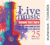 vector banner with multicolor... | Shutterstock .eps vector #711063826