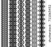 lace seamless borders set... | Shutterstock . vector #711065452