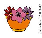 flowers in vase | Shutterstock .eps vector #711088906