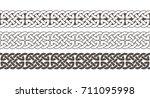 celtic knot braided frame... | Shutterstock .eps vector #711095998