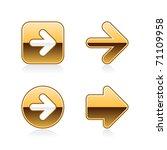 gold metal arrow web buttons... | Shutterstock .eps vector #71109958