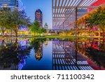 dallas  texas  usa downtown... | Shutterstock . vector #711100342