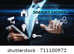 smart home automation control... | Shutterstock . vector #711100972